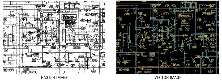 CAD Conversion raster to vector